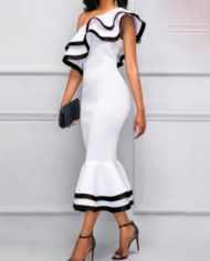 Screenshot-2018-2-9 White Falbala One Shoulder Women's Bodycon Dress