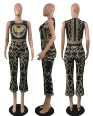 Gold-Chain-Print-Long-Jumpsuit-for-Women-Sleeveless-with-Back-Zipper-Pocket-Overalls-2018-Female-Summer